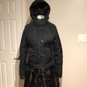 Bomber Jacket Quilted Down Puffy Hoodie Casual L